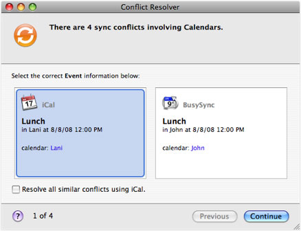 Apple SyncServices requiring conflict resolution