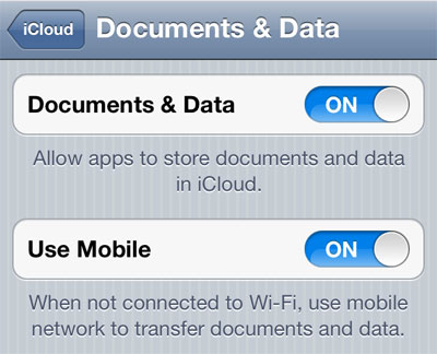 Ios 5 over the air update video documents on icloud and for Documents to icloud from mac