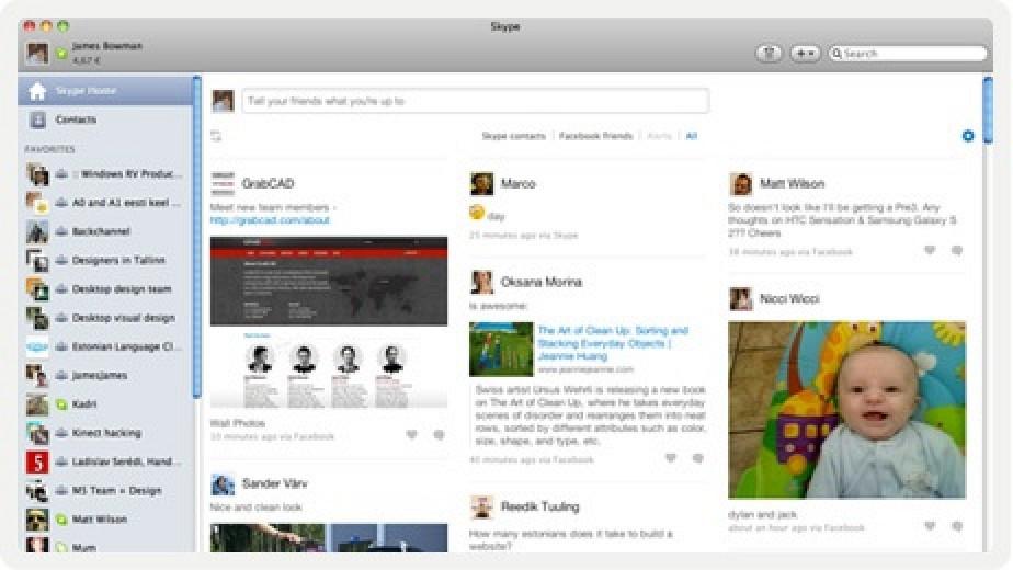 Skype 5.4 for Mac Beta Adds Facebook Integration