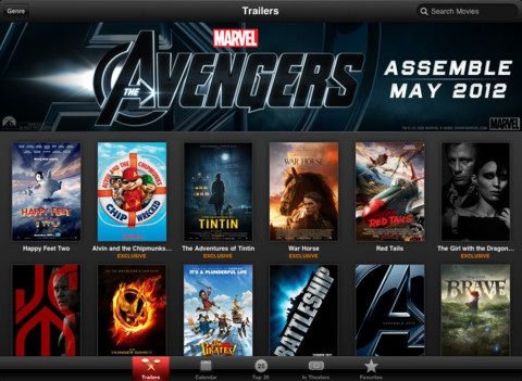Apple releases itunes movie trailers app for ios
