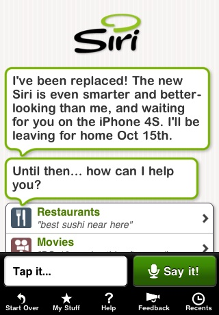 Apple Shutting Down Existing Siri App with iPhone 4S Launch - Mac ...