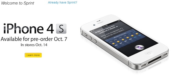 Sprint Opens iPhone 4 Pre-Orders, iPhone 4S Follows Tomorrow - Mac ...