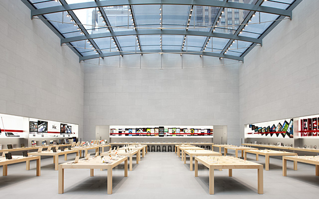 Empty apple store
