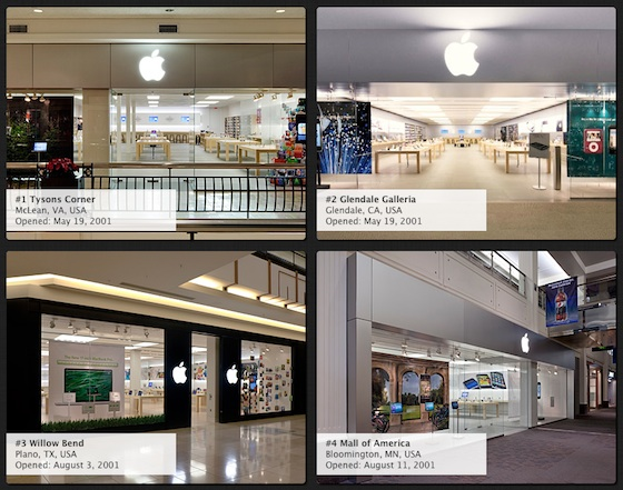 Evolution Apple Store Apple's Store Designs Have