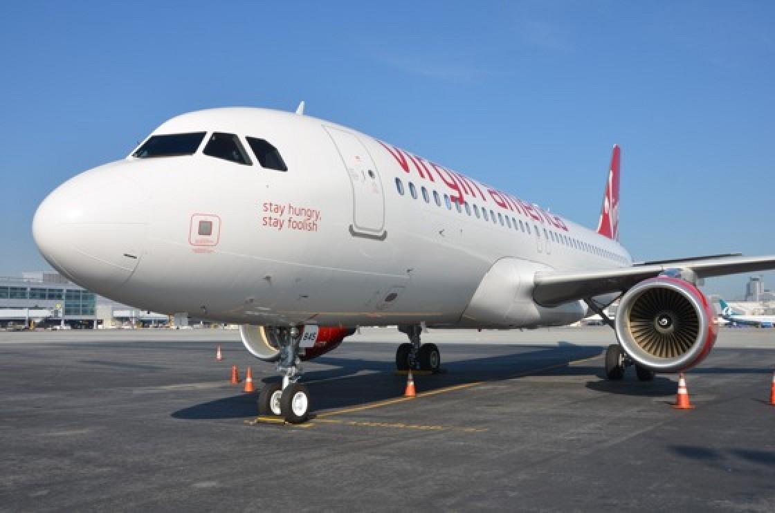 virgin america names jet after steve jobs mac rumors