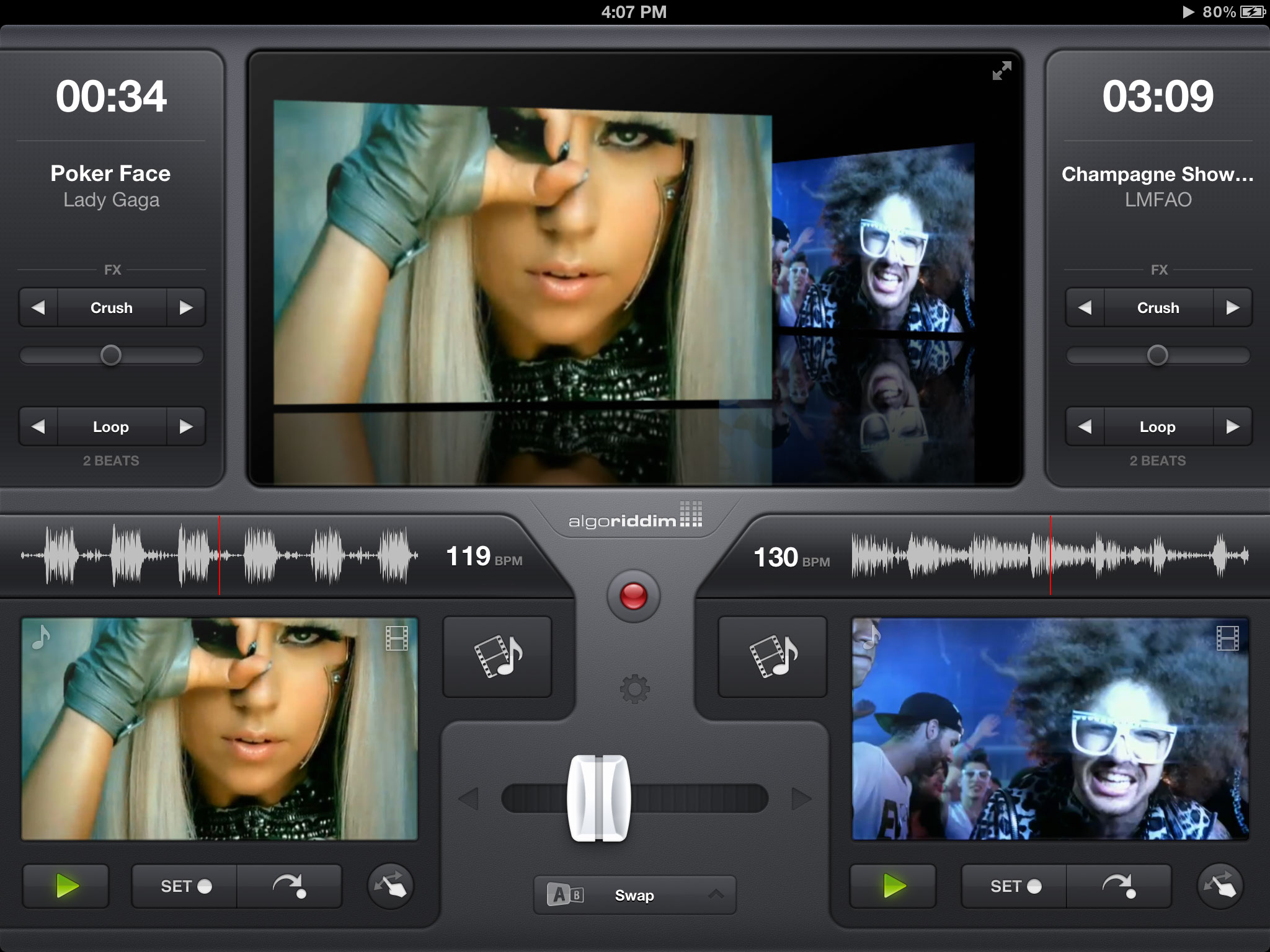 vjay - Míchání videoklipů v reálném čase na iPadu (video)