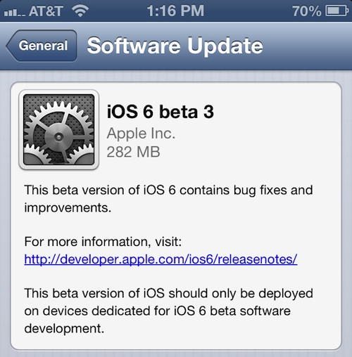 Apple Seeds iOS 6 Beta 4 to Developers