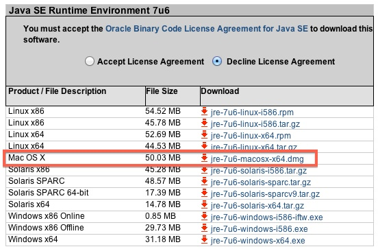 What is java (tm) se runtime environment 6 update 7