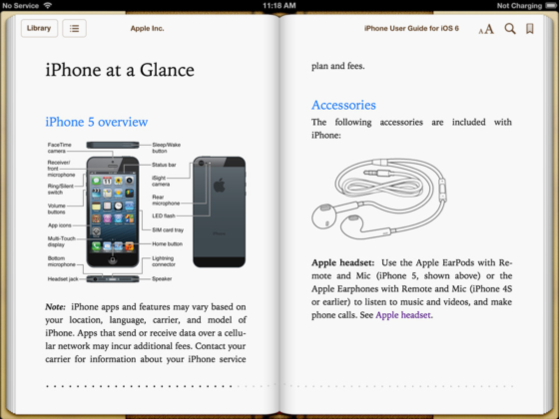 apple updates iphone user guide for ios 6 and the iphone 5