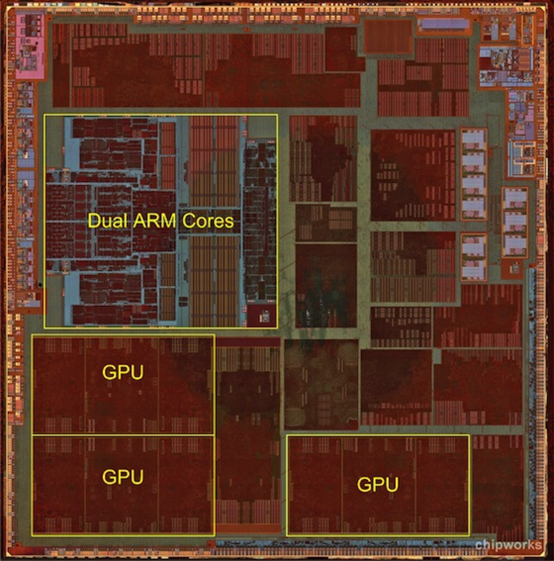 Teardown Of Apple S A6 Chip Reveals Manual Layout Of