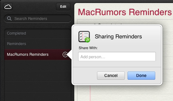 Apple Reminders Logo Apple adds shared reminders to