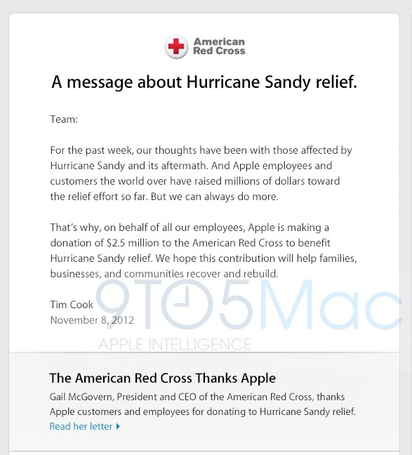 Apple Donates 25 Million To American Red Cross For