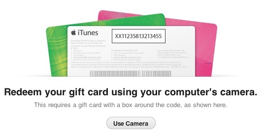 iTunes 11 Store Adds Gift Card Redemption Via Camera - Mac Rumors