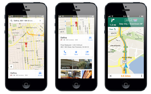 blog post Roundup of Features in Google Maps for iOS: Better Design than Android Version, iPad Version Coming