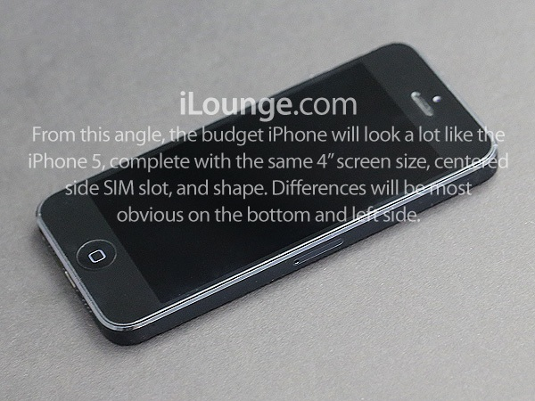 budget iphone front side Apples Low Cost iPhone Design Said to Be Mix of iPhone 5 and iPod Touch with iPod Classic Curves