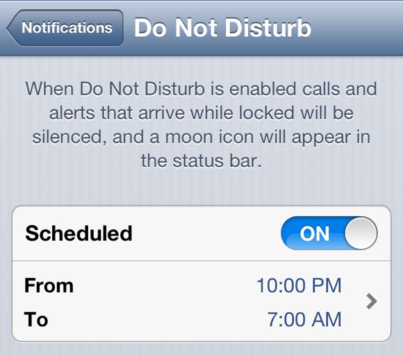 iOS 6's 'Do Not Disturb' Not Shutting Off Automatically on New Year's Day