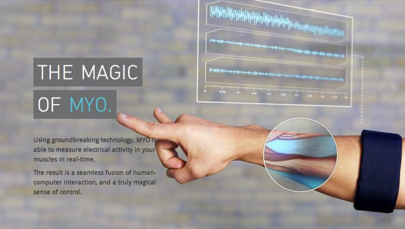 MYO - Náramek pro ovládání počítačů gesty.