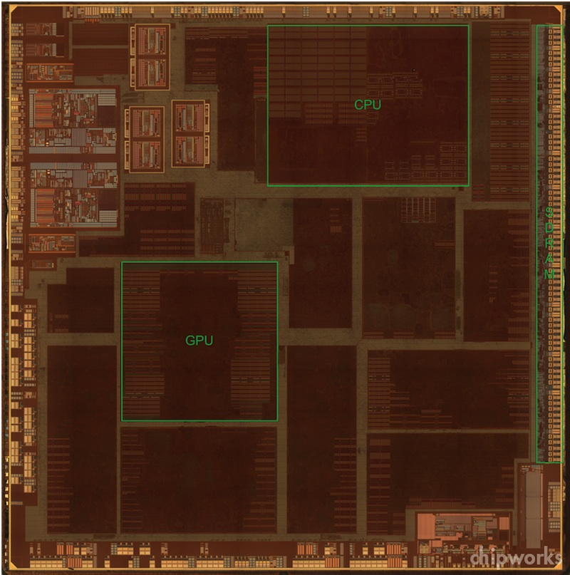 a5 7498 die Smaller A5 Chip From Tweaked Apple TV Contains Only One CPU Core, Revamped Analog Circuitry