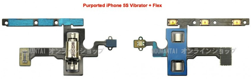 iphone 5s vibrator Alleged iPhone 5S Home Button, Vibrator and Volume/Mute Flex Cable Parts Surface