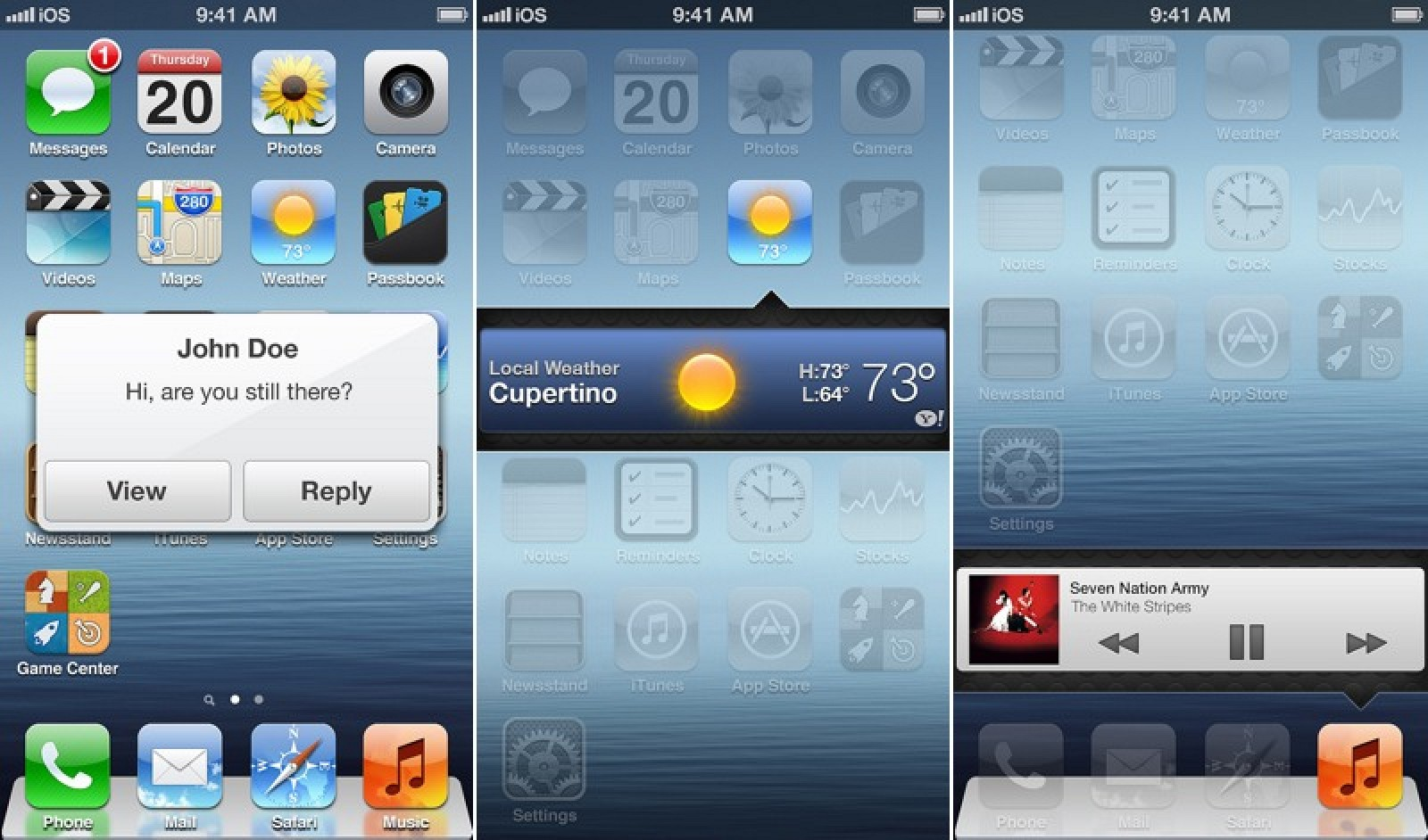 iOS 7 Concept Features Widgets, New Lock Screen, Mission ...