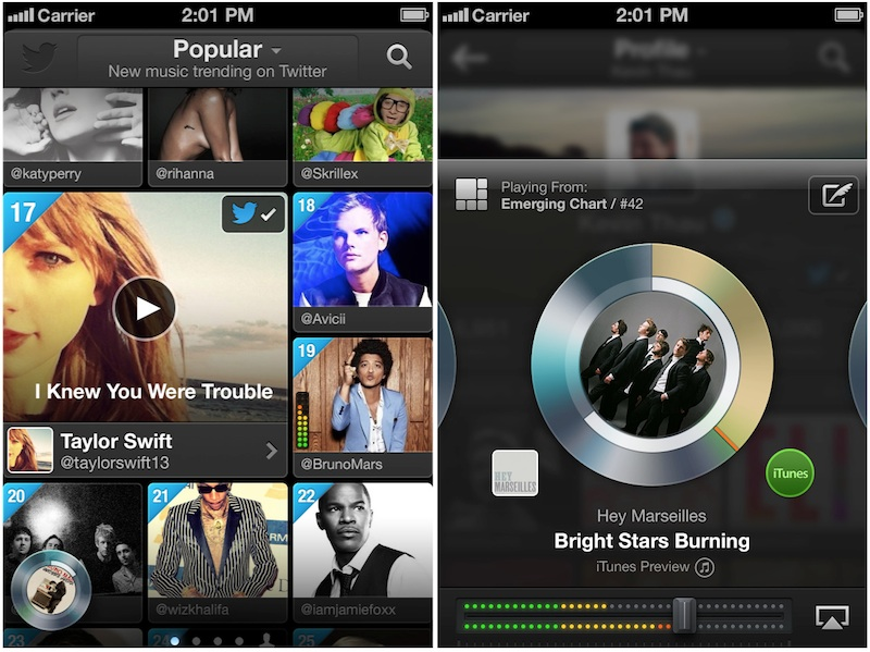 twitter music Twitter Launches New Music App for iOS and Web