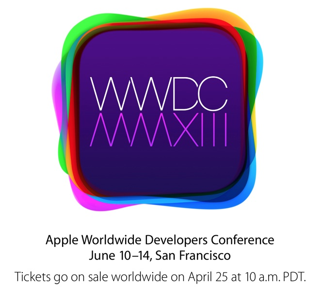 wwdc 2013 Apple Announces WWDC 2013 Scheduled for June 10 14, Tickets on Sale Tomorrow