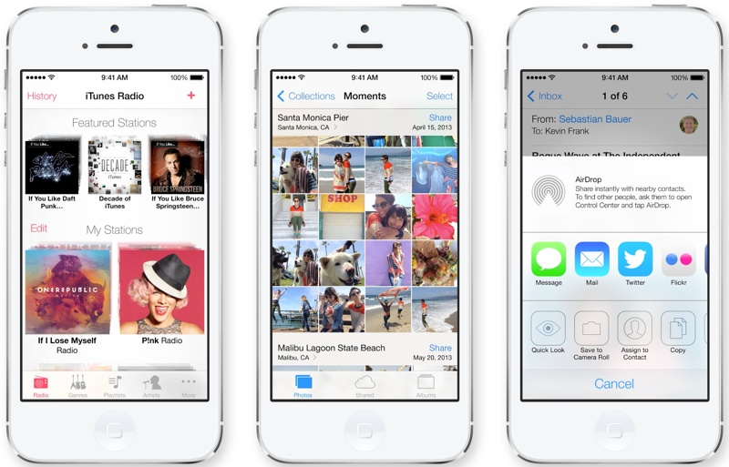 ios721 Apple Unveils iOS 7 with Major Design Overhaul, Multitasking and Control Center