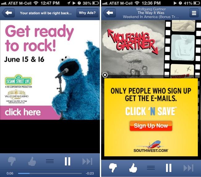 Pandora advertising