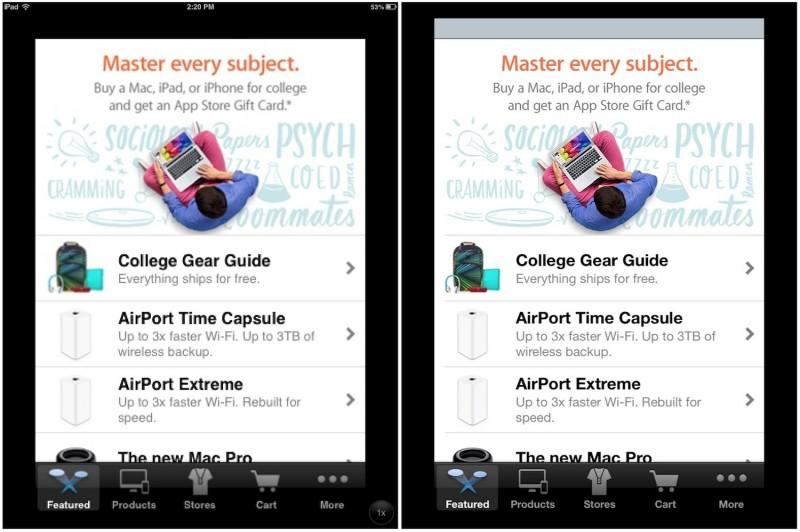 iOS 7 - iPhone aplikace na iPadech bez Retiny konečně v plném rozlišení