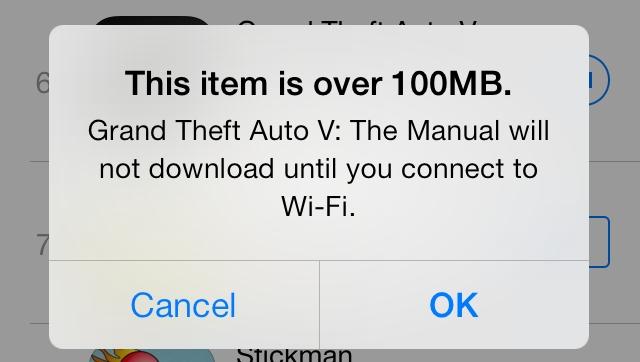 Bild zu «Apple erhöht mobiles Update-Limite auf 100 MB»