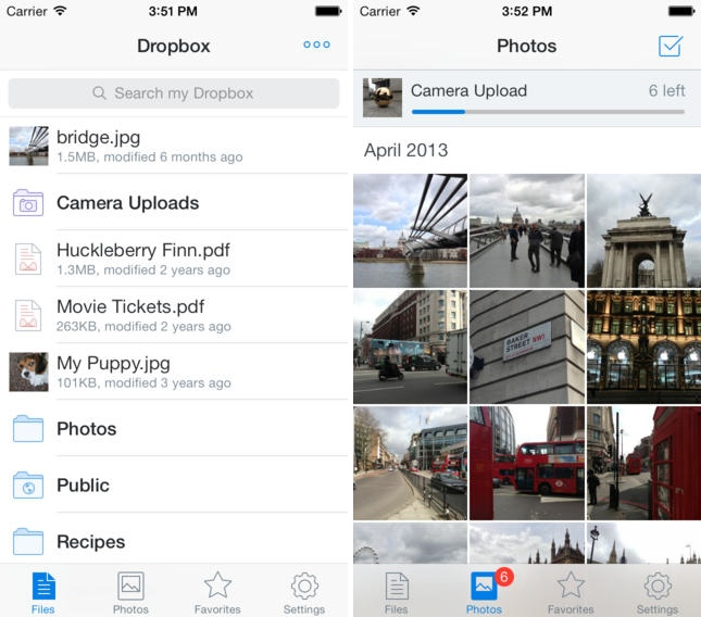 dropbox for iphone ios