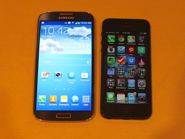 Galaxy S4 and iPhone