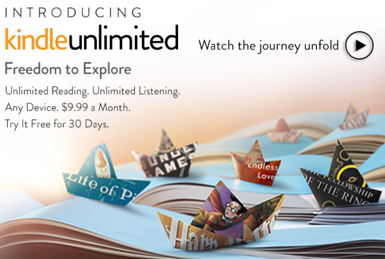 amazon officially announces kindle unlimited e book and
