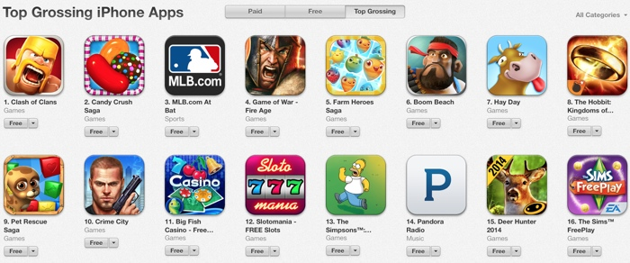 the most popular game apps