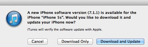 711 - Apple releases iOS 7.1.1 today