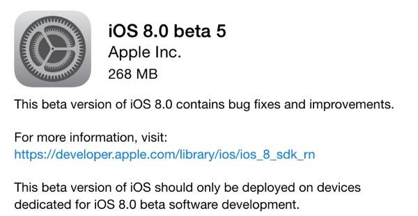 Všechny změny v iOS 8 beta 5