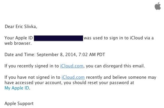 Apple již rozesílá výstražné maily, pokud se připojujete přes iCloud.com