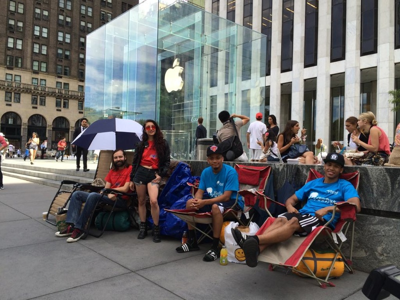 the people camping outside the apple store want more than the iphone