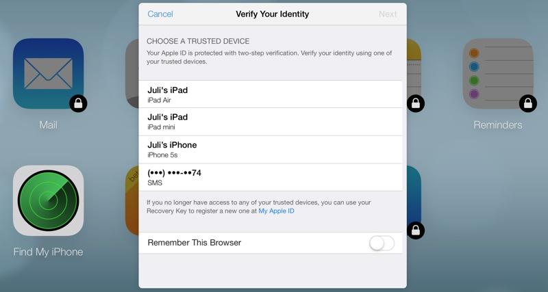 iCloud.com znovu nabízí dvoufázové ověřování identity