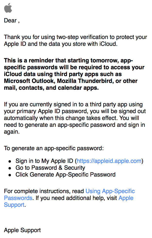 Apple Begins Reminding Two Factor Authentication Users