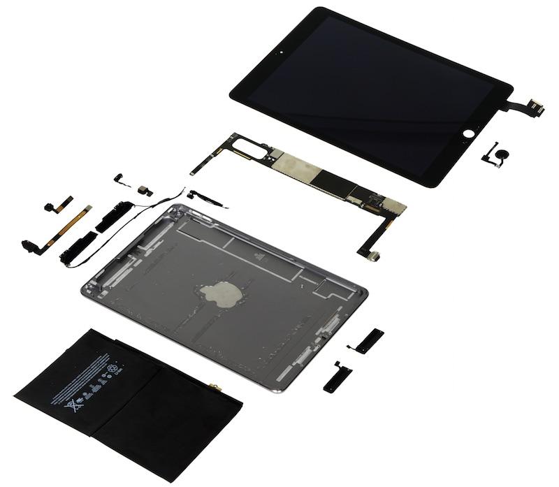Komponenty pro výrobu iPadu Air 2 mají hodnotu 275$
