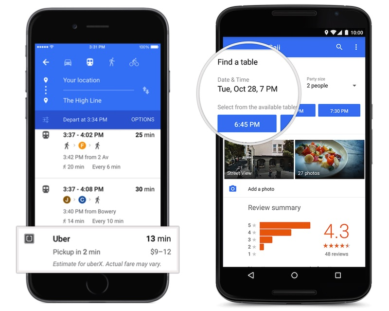 Touch Screen Version Of Google Maps Google Maps Uber Opentable
