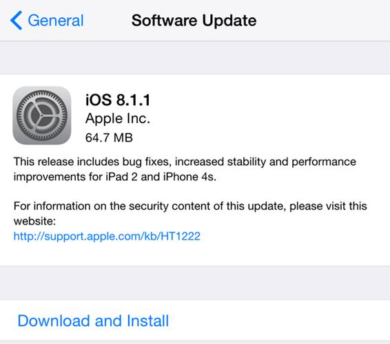 actualización ios 8.1.1