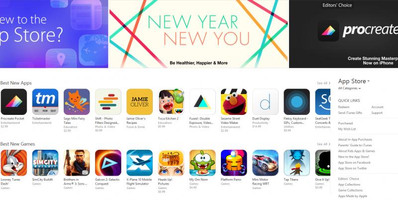 V prvním týdnu roku 2015 jsme v App Store rekordně nakupovali