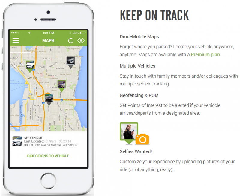 Ces 2015 Dronemobile App Allows Gps Vehicle Tracking