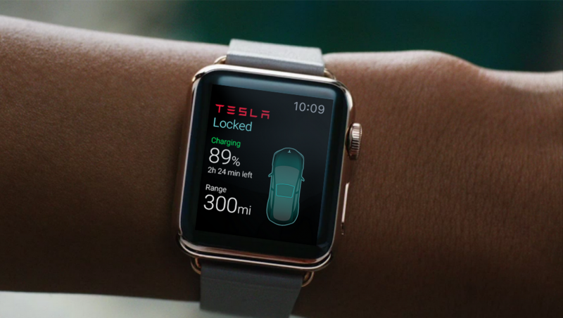 Third-Party Tesla App Provides Look at Opportunities and Limitations of Apple Watch Development