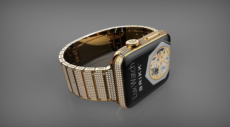 Lux Omni Gold Angled 800x442 Brikk Announces Diamond Studded Apple Watches Costing Up to $75,000