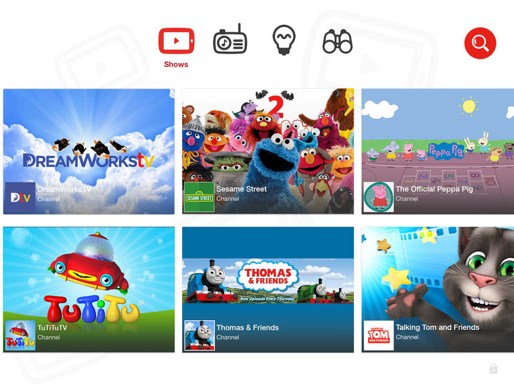 YouTube Kids iPad