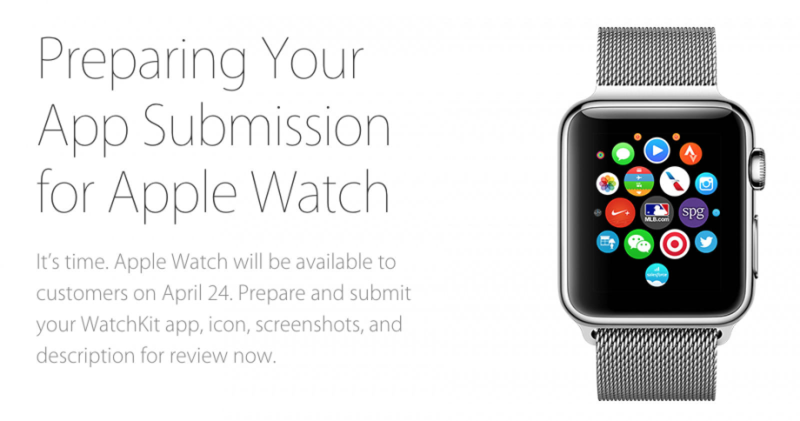 Apple Watch App Submissions