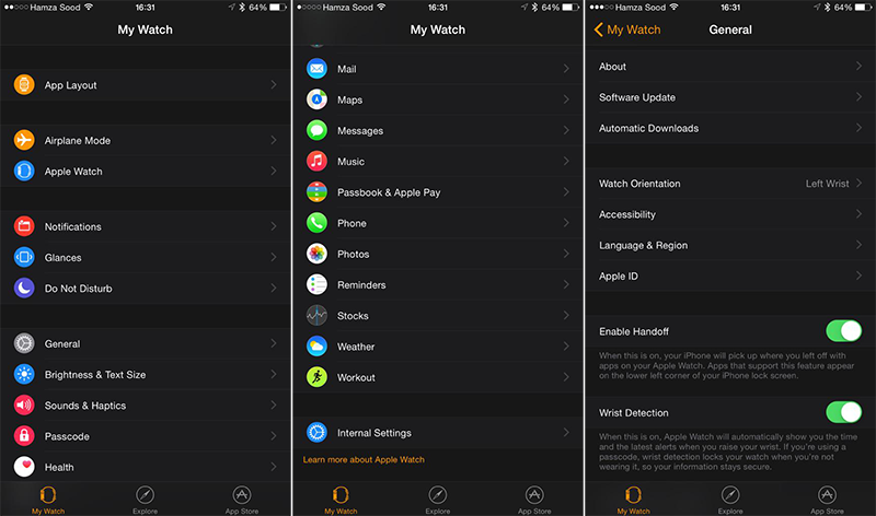 Náhled aplikace Apple Watch (Galerie screenshotů)